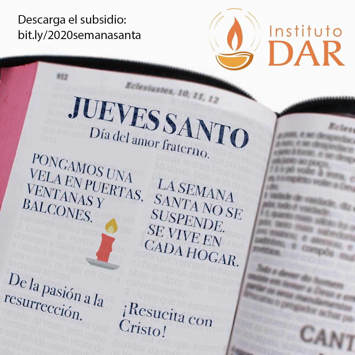 de la pasion a la resureccion jueves santo